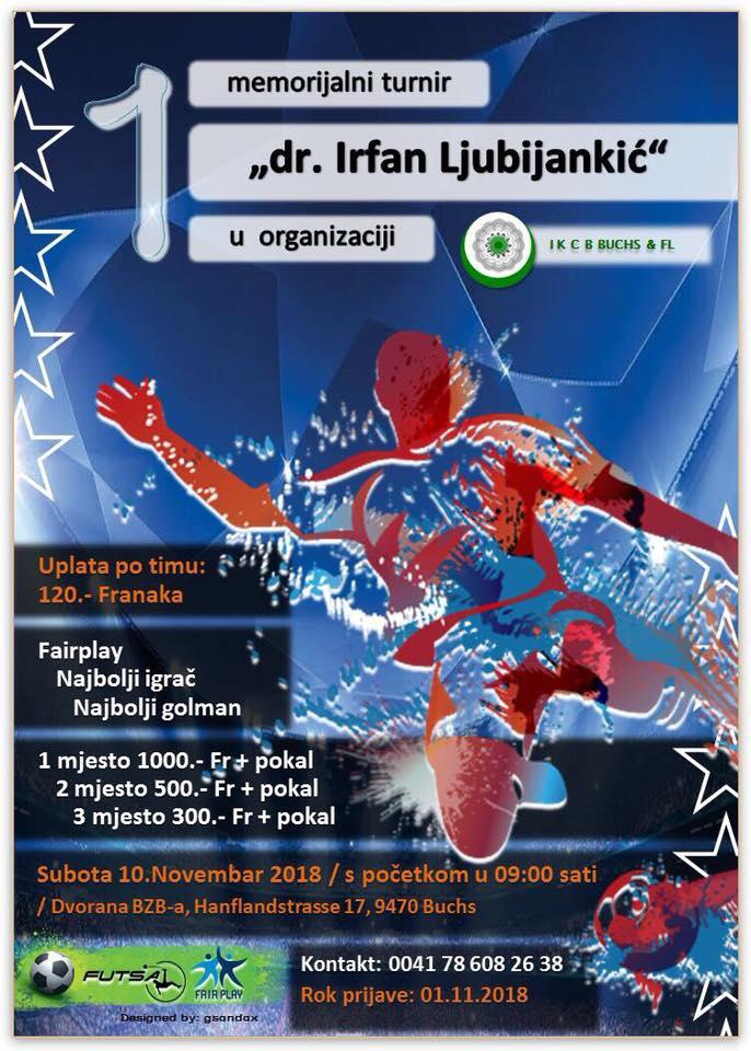 "Memorijalni fudbalski turnir ""Dr. Irfan Ljubijankić"" @ BZB Buchs | Buchs | Sankt Gallen | Švicarska"
