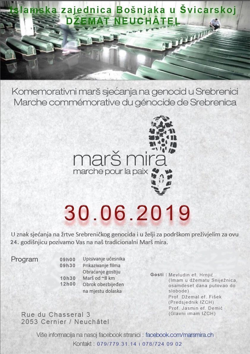 Marš mira - marche pour la paix @ Džemat Neuchatel | Cernier | Neuchâtel | Švicarska